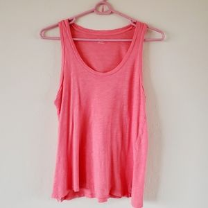 Madewell coral tank top size xxs